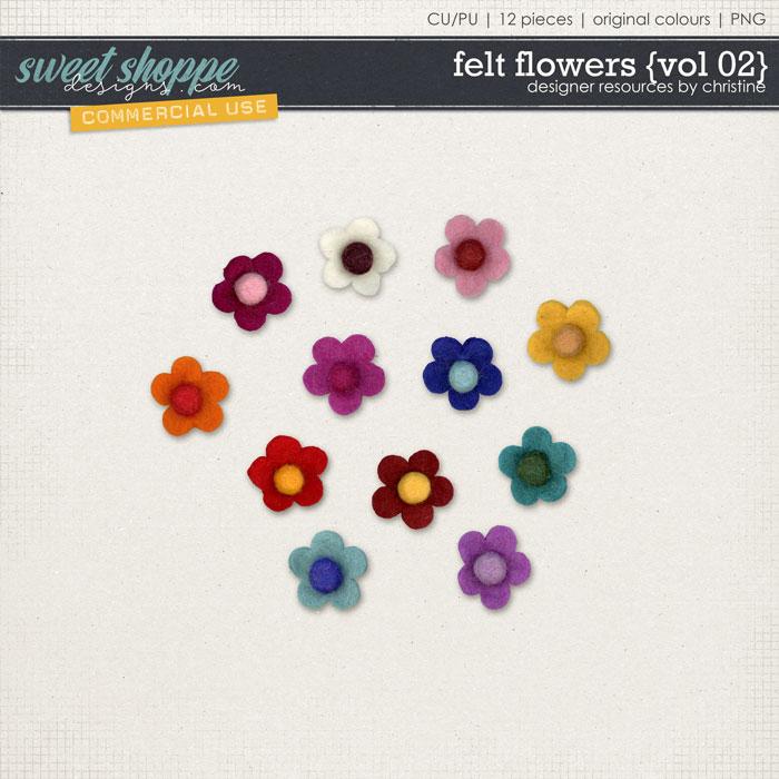 Felt Flowers {Vol 02} by Christine Mortimer