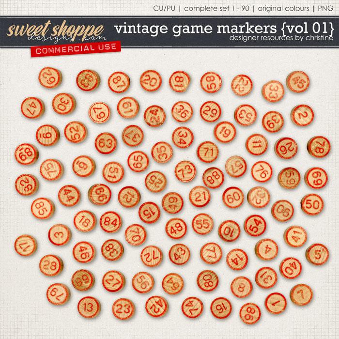 Vintage Game Markers {Vol 01} by Christine Mortimer