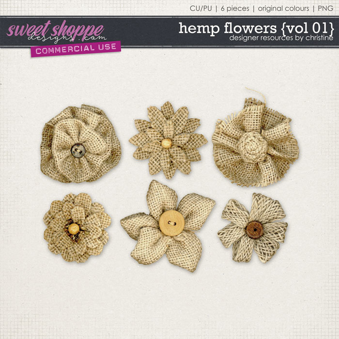 Hemp Flowers {Vol 01} by Christine Mortimer
