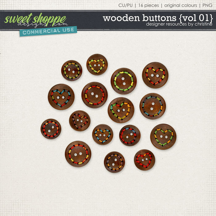 Wooden Buttons {Vol 01} by Christine Mortimer