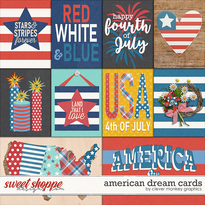 American Dream Cards by Clever Monkey Graphics