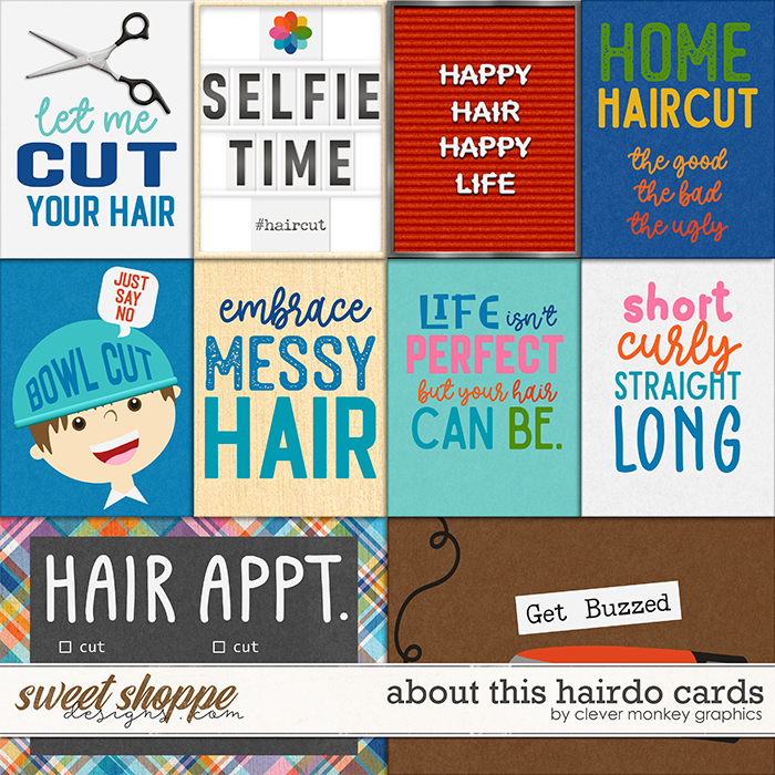 About this Hairdo Cards by Clever Monkey Graphics