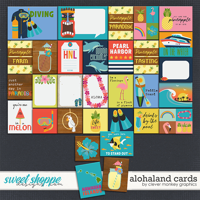 Alohaland Cards by Clever Monkey Graphics
