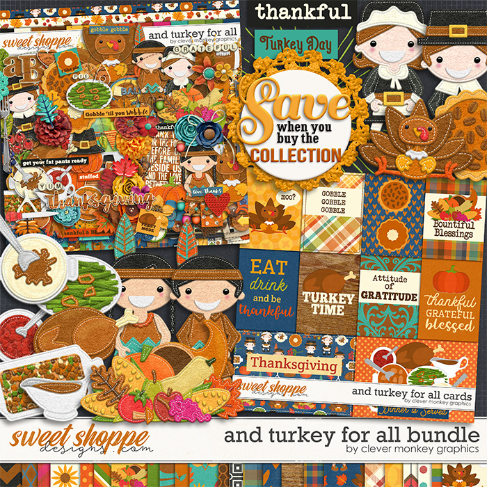 And Turkey for All Bundle by Clever Monkey Graphics