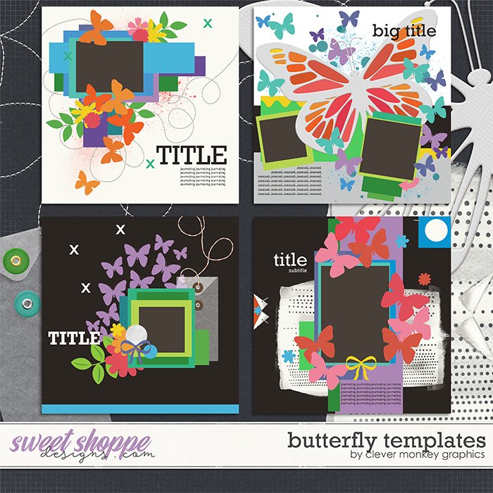 Butterfly Templates by Clever Monkey Graphics