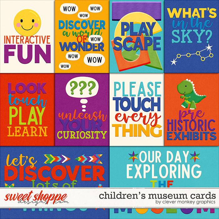 Children's Museum Cards by Clever Monkey Graphics