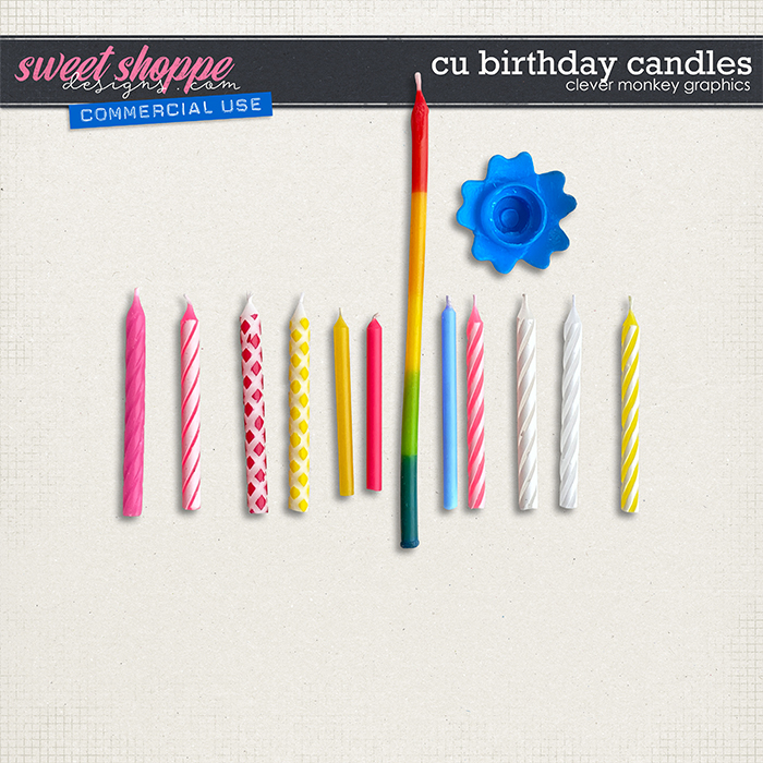 CU Birthday Candles by Clever Monkey Graphics