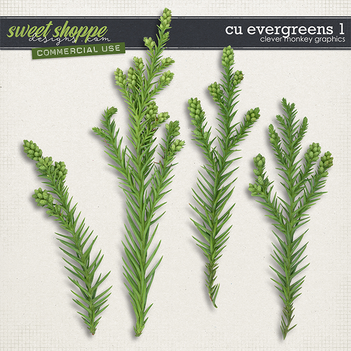 CU Evergreens 1 by Clever Monkey Graphics