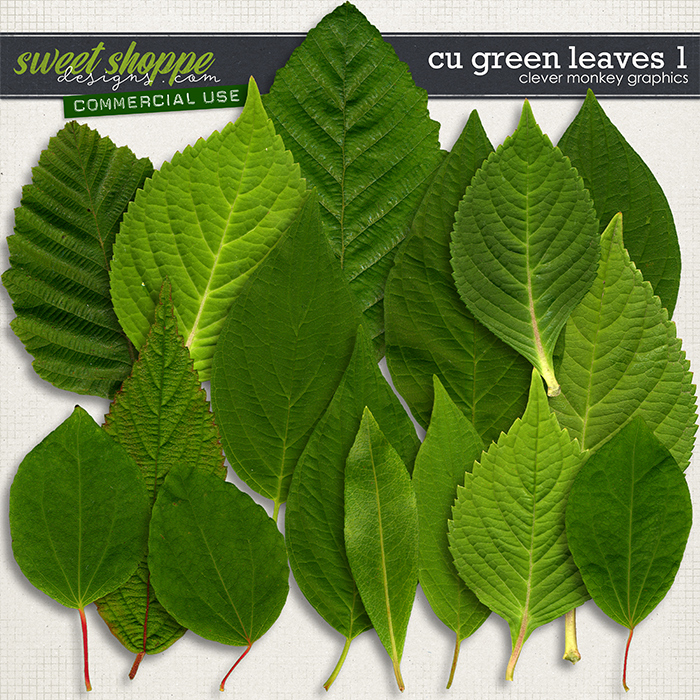 CU Green Leaves 1 by Clever Monkey Graphics