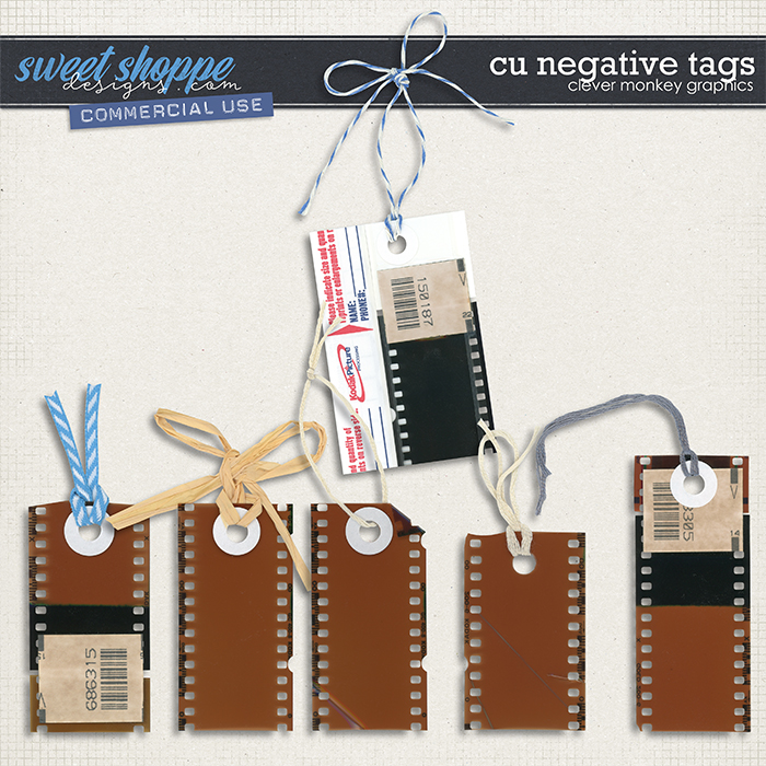 CU Negative Tags by Clever Monkey Graphics