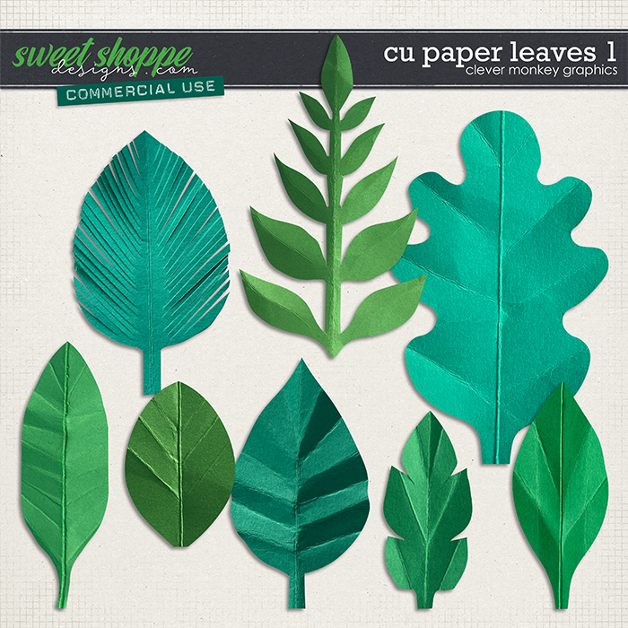 CU Paper Leaves 1 by Clever Monkey Graphics