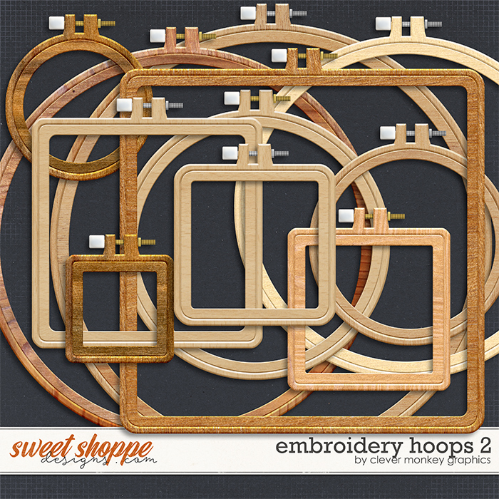 Embroidery Hoops 2 by Clever Monkey Graphics