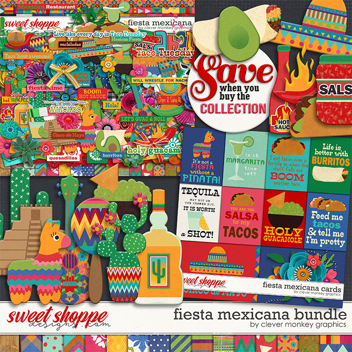 Fiesta Mexicana Bundle by Clever Monkey Graphics