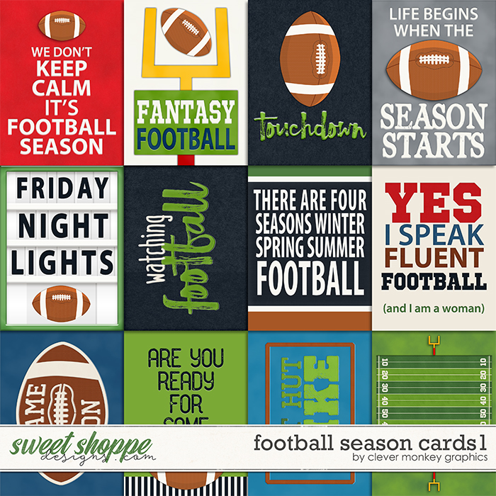 Football Season Cards 1 by Clever Monkey Graphics
