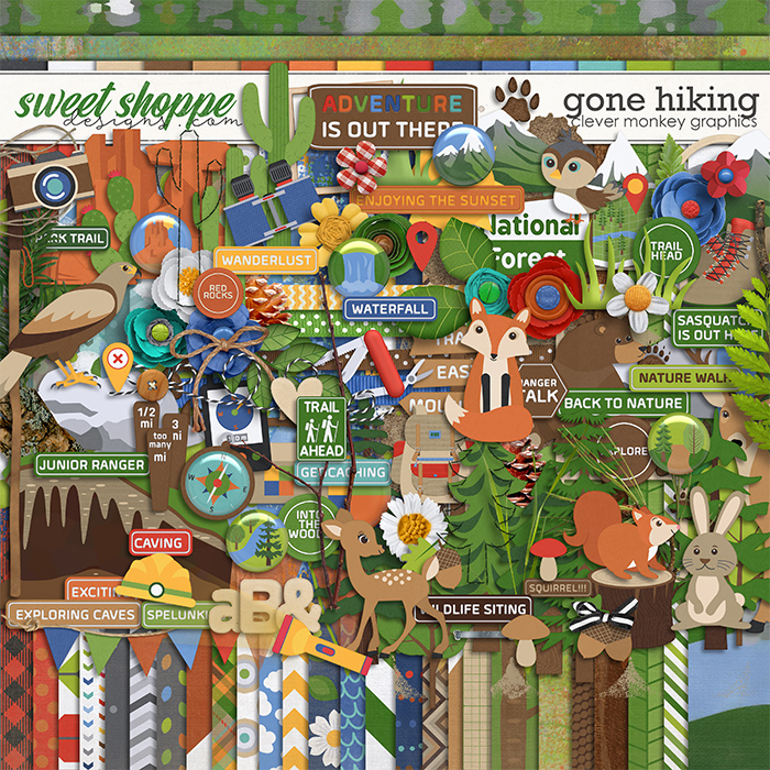 Gone Hiking by Clever Monkey Graphics