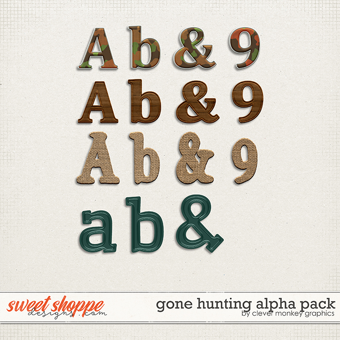 Gone Hunting Alpha Pack by Clever Monkey Graphics