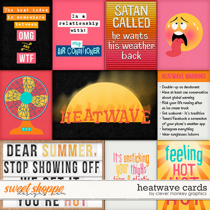Heatwave Cards by Clever Monkey Graphics