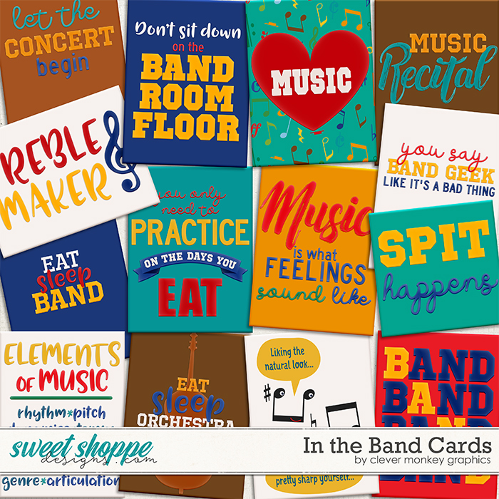 In the Band Cards by Clever Monkey Graphics