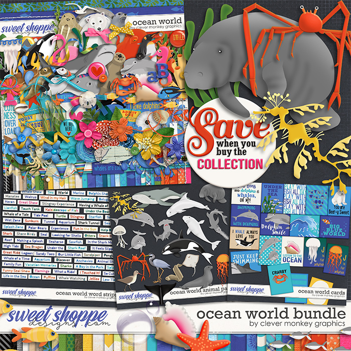 Ocean World Bundle by Clever Monkey Graphics
