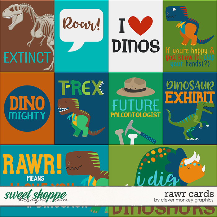 Rawr Cards by Clever Monkey Graphics