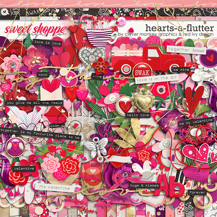 Hearts-a-flutter by Clever Monkey Graphics & Red Ivy Design