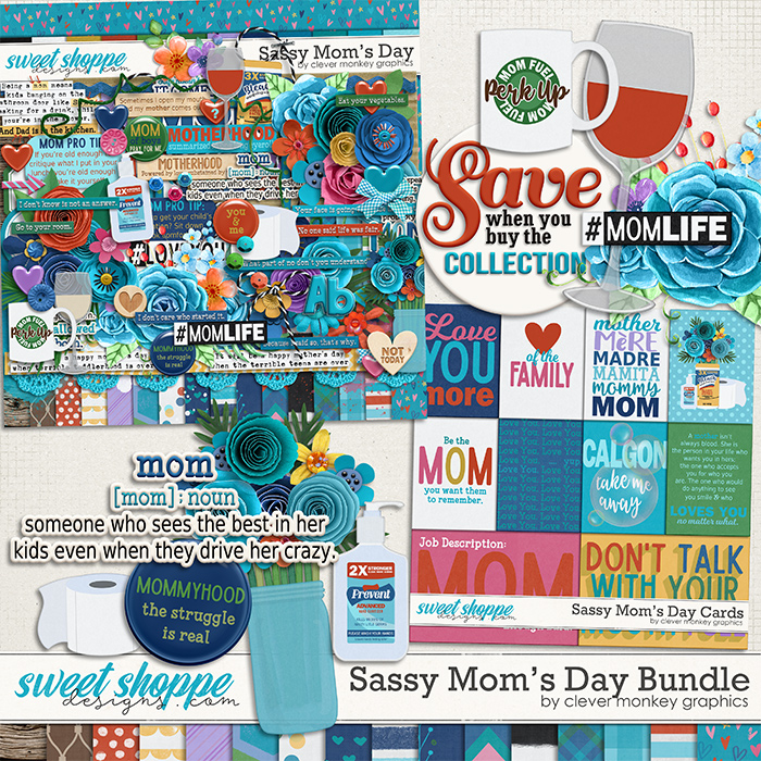 Sassy Mom's Day Bundle by Clever Monkey Graphics