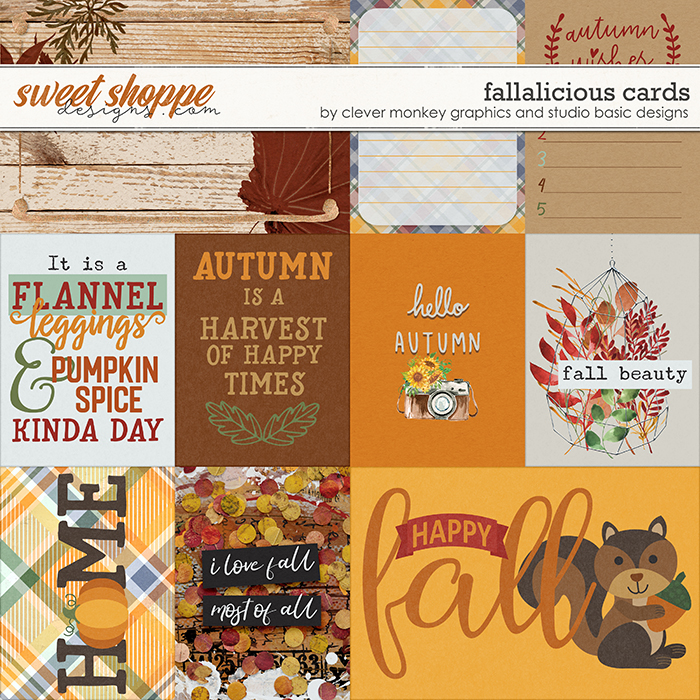 Fallalicious Cards by Clever Monkey Graphics and Studio Basic Designs