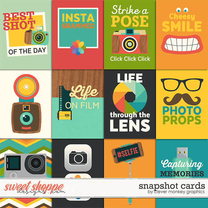 Snapshot Cards by Clever Monkey Graphics