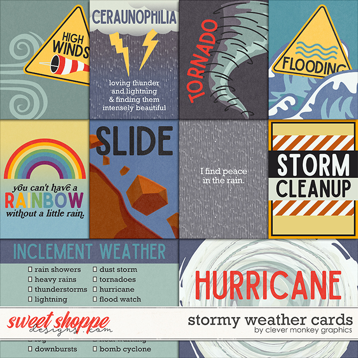Stormy Weather Cards by Clever Monkey Graphics