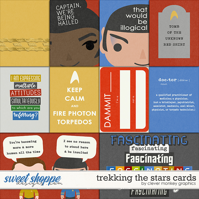 Trekking the Stars Cards by Clever Monkey Graphics