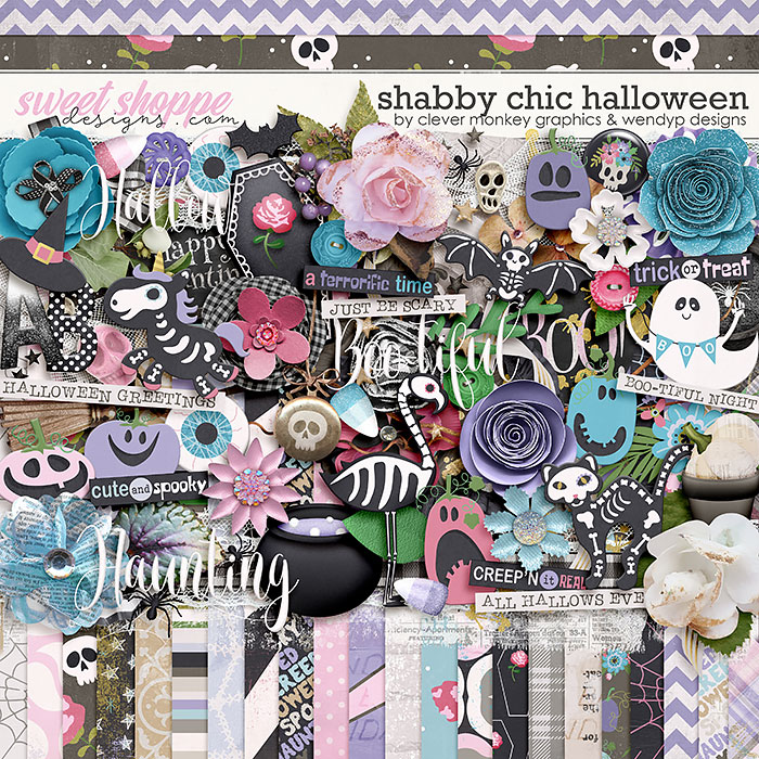 Shabby Chic Halloween by Clever Monkey Graphics & WendyP Designs