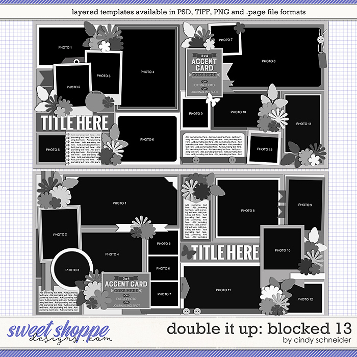 Cindy's Layered Templates - Double It Up: Blocked 13 by Cindy Schneider