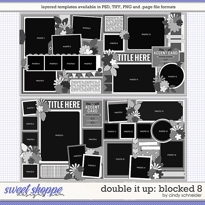 Cindy's Layered Templates - Double It Up: Blocked 8 by Cindy Schneider