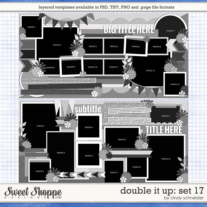 Cindy's Layered Templates - Double It Up Set 17 by Cindy Schneider