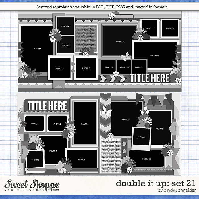 Cindy's Layered Templates - Double It Up Set 21 by Cindy Schneider