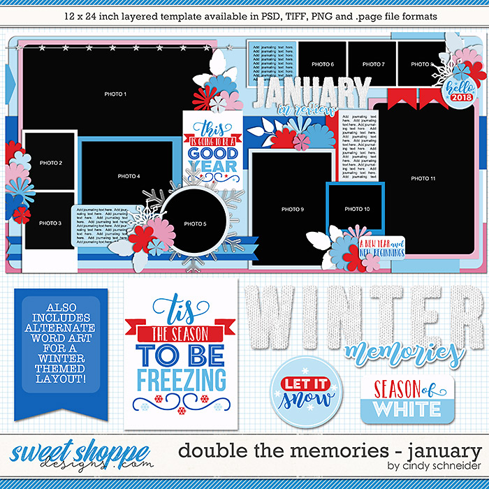 Cindy's Layered Templates - Double the Memories: January by Cindy Schneider