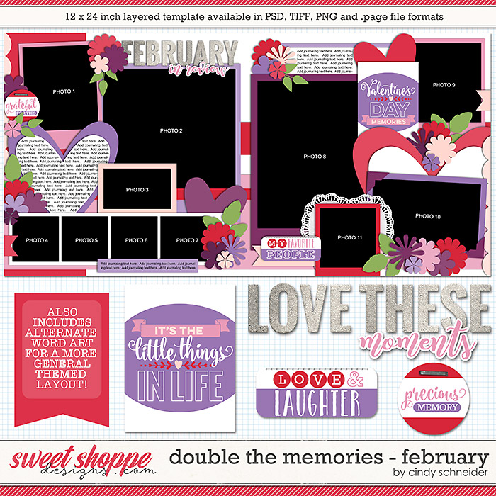 Cindy's Layered Templates - Double the Memories: February by Cindy Schneider