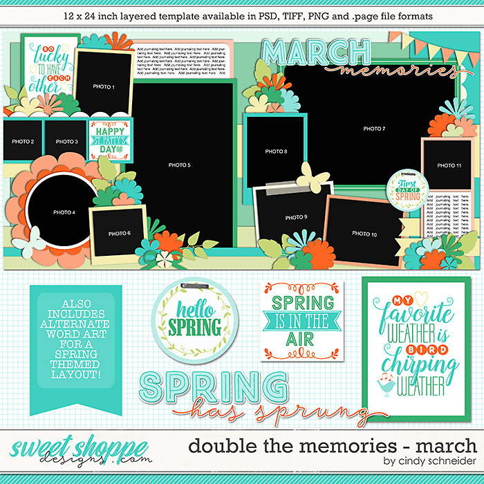 Cindy's Layered Templates - Double the Memories: March by Cindy Schneider