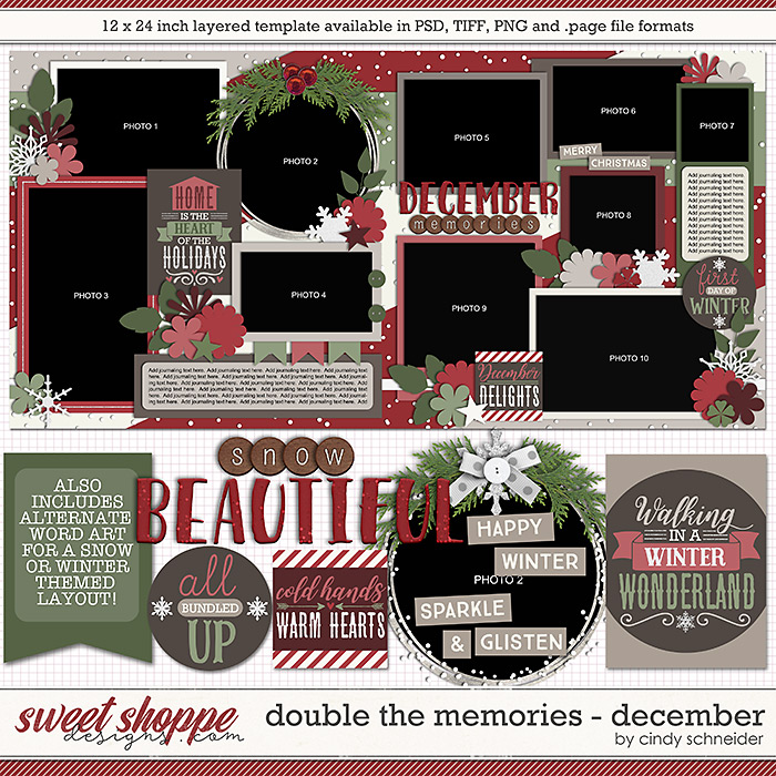 Cindy's Layered Templates - Double the Memories: December by Cindy Schneider
