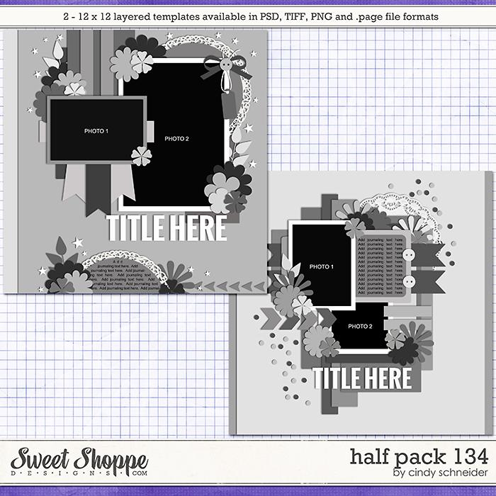 Cindy's Layered Templates - Half Pack 134 by Cindy Schneider