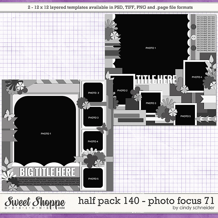 Cindy's Layered Templates - Half Pack 140: Photo Focus 71 by Cindy Schneider