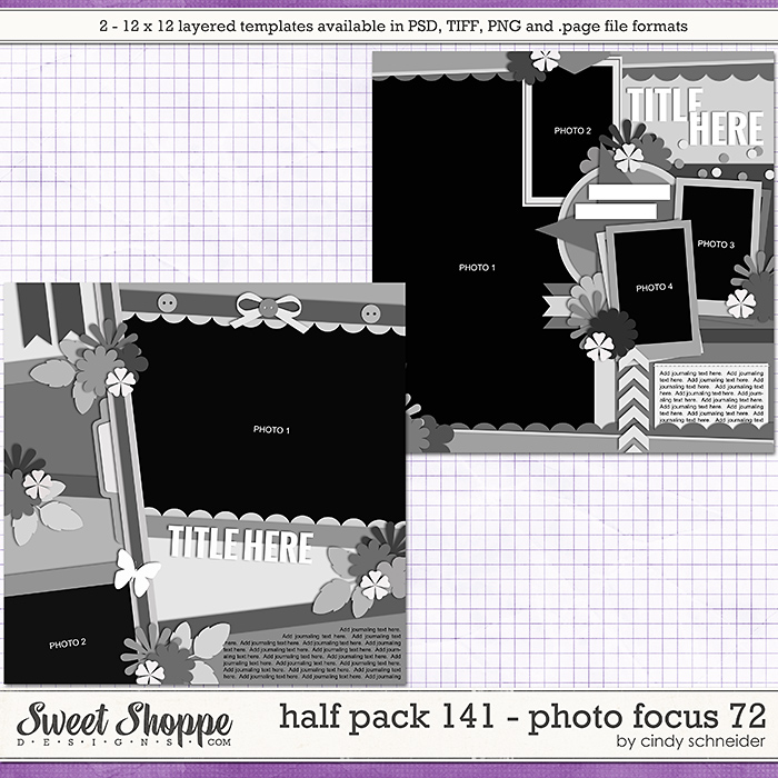 Cindy's Layered Templates - Half Pack 141: Photo Focus 72 by Cindy Schneider