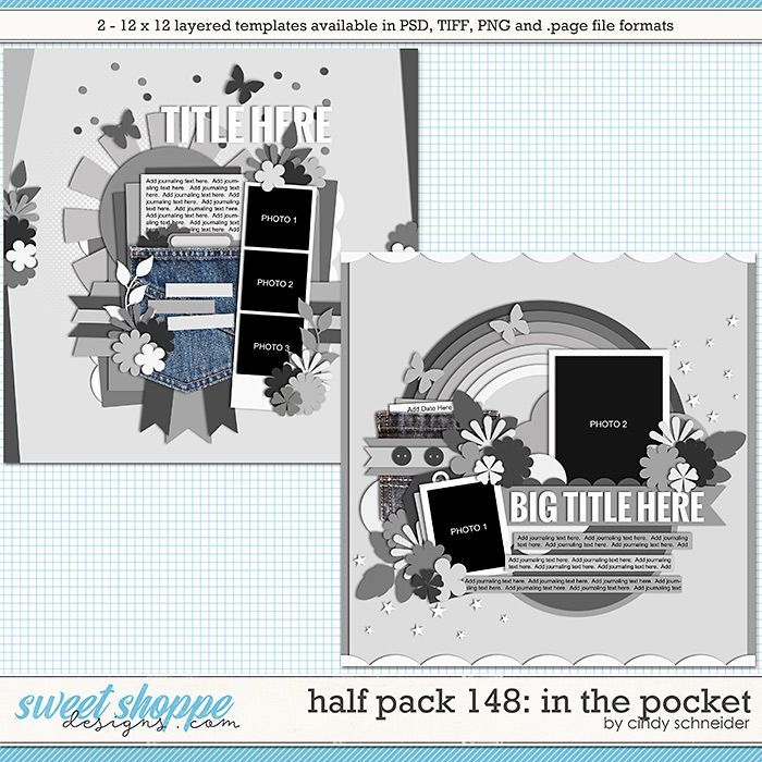 Cindy's Layered Templates - Half Pack 148: In the Pocket by Cindy Schneider