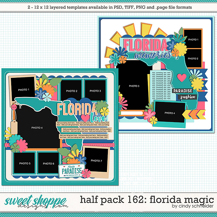 Cindy's Layered Templates - Half Pack 162: Florida Magic by Cindy Schneider