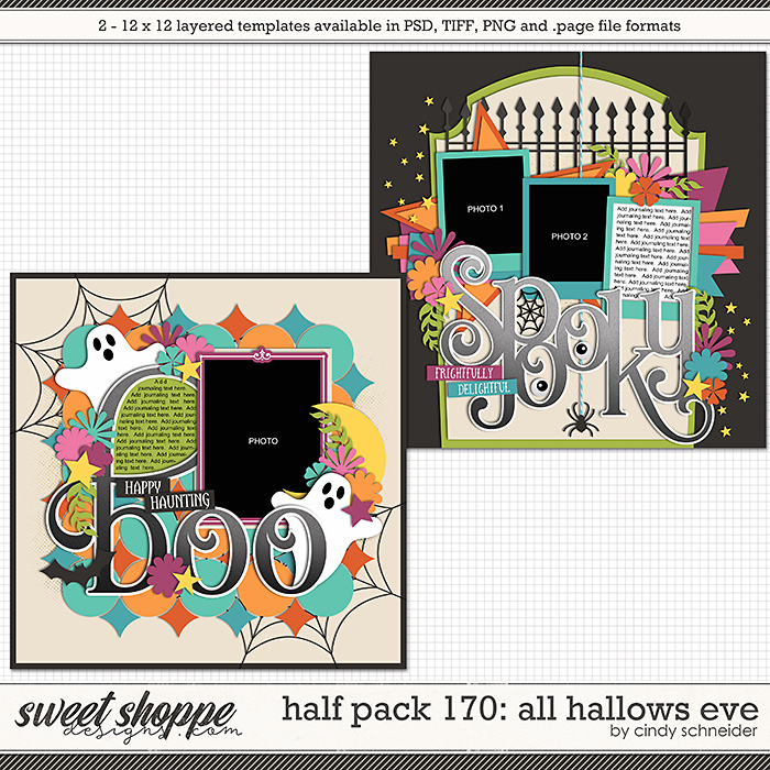 Cindy's Layered Templates - Half Pack 170: All Hallows Eve by Cindy Schneider