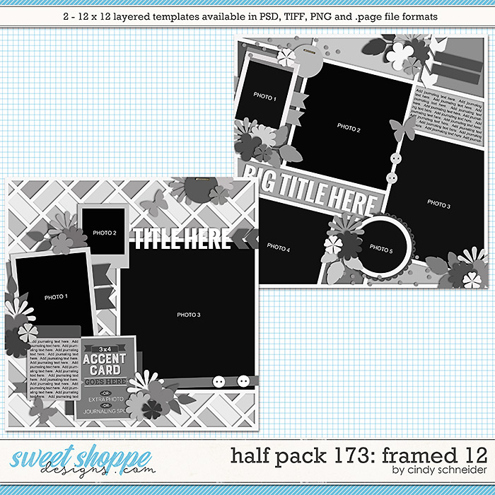 Cindy's Layered Templates - Half Pack 173: Framed 12 by Cindy Schneider