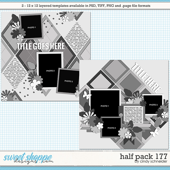 Cindy's Layered Templates - Half Pack 177 by Cindy Schneider