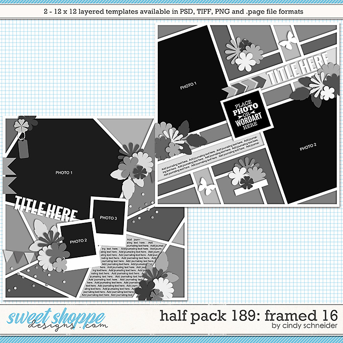 Cindy's Layered Templates - Half Pack 189: Framed 16 by Cindy Schneider