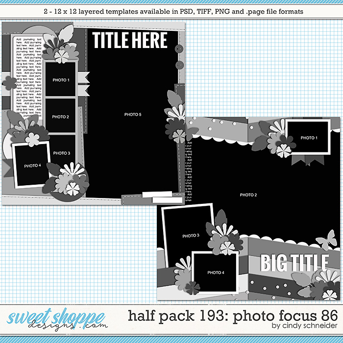 Cindy's Layered Templates - Half Pack 193: Photo Focus 86 by Cindy Schneider