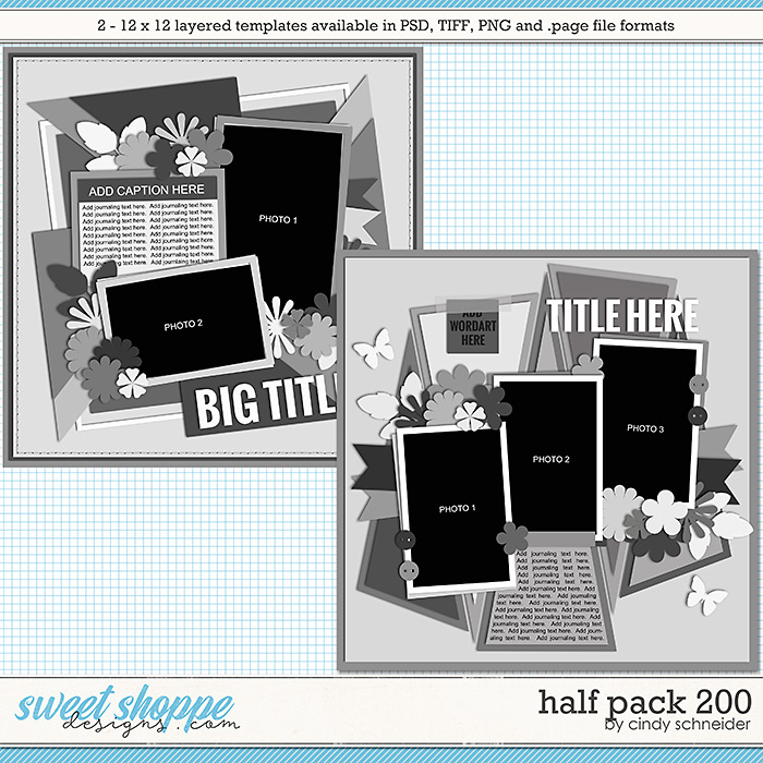 Cindy's Layered Templates - Half Pack 200 by Cindy Schneider